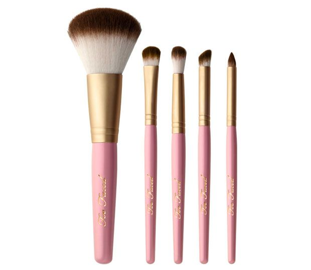 too-faced-pro-essential-teddy-bear-hair-brush-set-best-makeup-brush-brands