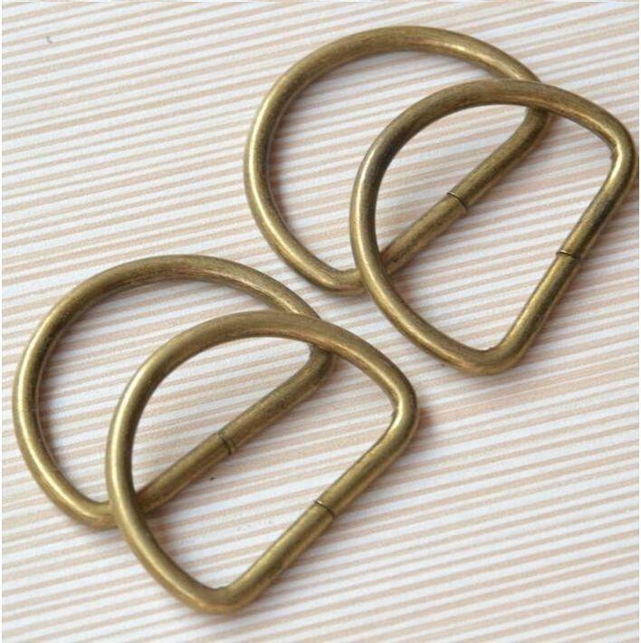 2016 20 cái Cổ Điển Kim Loại D ring buckles may quần áo Vá TỰ LÀM Hành Lý May làm bằng tay Bag purse của nhãn hiệu nút LW0366