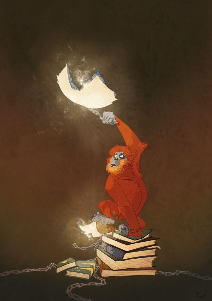 Discworld : The Librarian by kinkajoo motion