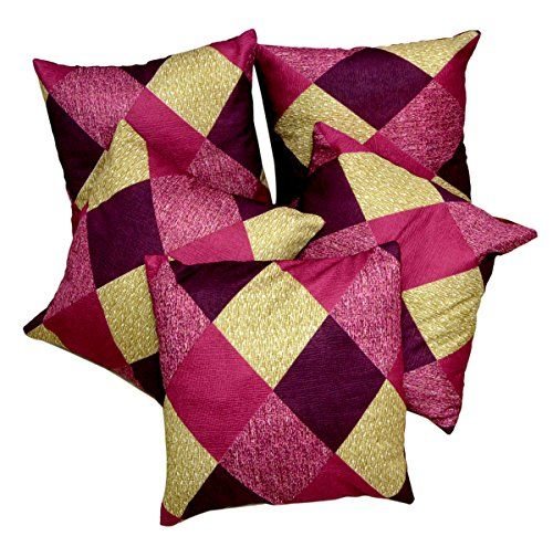 5pcs Multi Silk Pillow Covers Indian Modern Luxury Sofa Cushion Covers Krishna Mart India http://www.amazon.com/dp/B010FVNKDC/ref=cm_sw_r_pi_dp_1uILvb1Z3C0KD