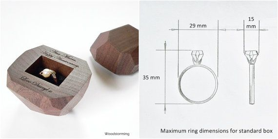 Faceted wood ring box engagement ring box by Woodstorming | #Etsy finds
