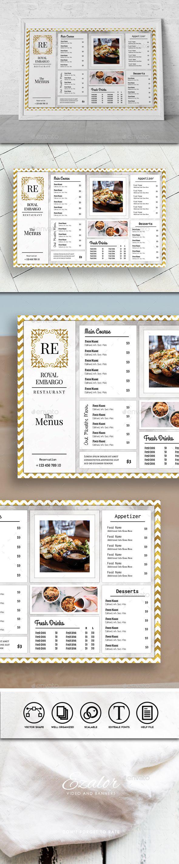 Cafe Gold Minimal #Logo - #Food #Menus Print Templates Download here: https://graphicriver.net/item/cafe-gold-minimal-logo/19763965?ref=alena994