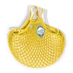 Filet à Provisions Petite Anse Jaune Doré en coton - la société française FILT est spécialisée dans le tricotage de filets depuis1860 !