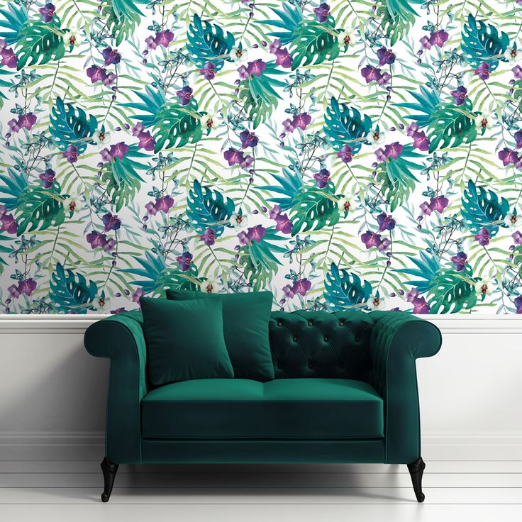 Design: Tropical Floral Product Code: 601557 (multi) Category: Floral Wallpaper Repeat: 64 cm Pattern Match: half drop Collection/Trend: Floral; Tropical; Modern