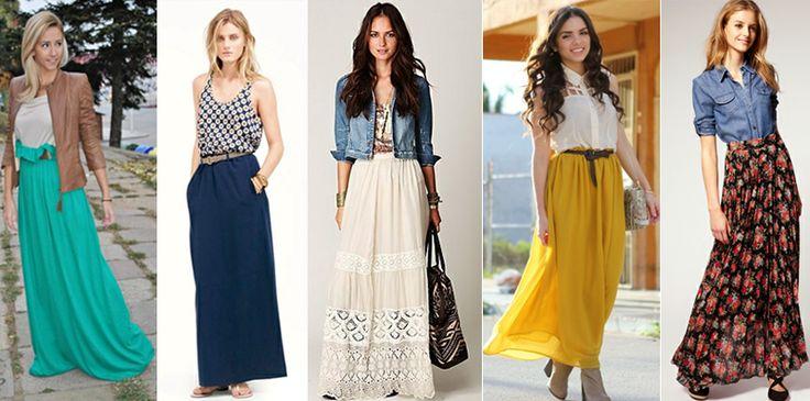 Tips para Usar Faldas Largas Archivos -