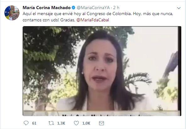 #16Ago #Video El mensaje que @MariaCorinaYA dió al Congreso de #Colombia - http://www.notiexpresscolor.com/2017/08/16/16ago-video-el-mensaje-que-mariacorinaya-dio-al-congreso-de-colombia/