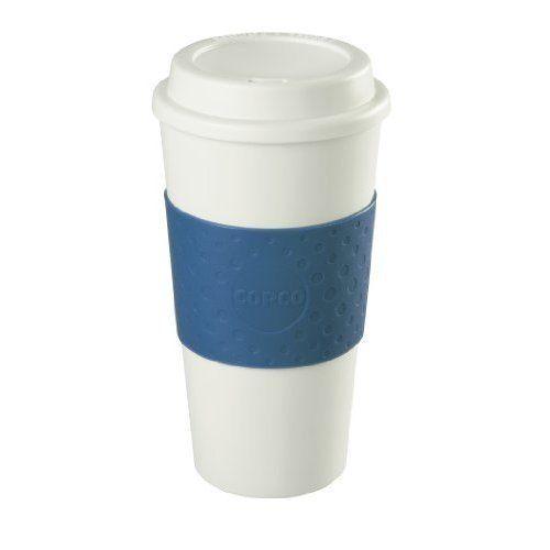 Coffee Maker Travel Reusable Mug Blue Modern Home Kitchen Durable #Unbranded