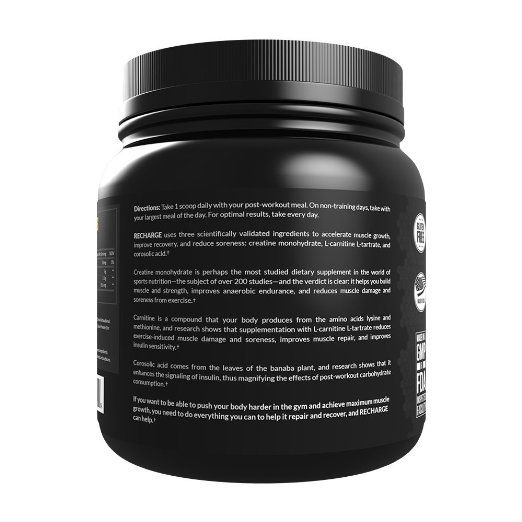 Amazon.com: LEGION Recharge - Best Post Workout Supplement for Men and Women, Best Natural Creatine Monohydrate Powder for Muscle Recovery, Effective Post Workout Recovery Drink - Fruit Punch, 1.13bs: Health & Personal Care