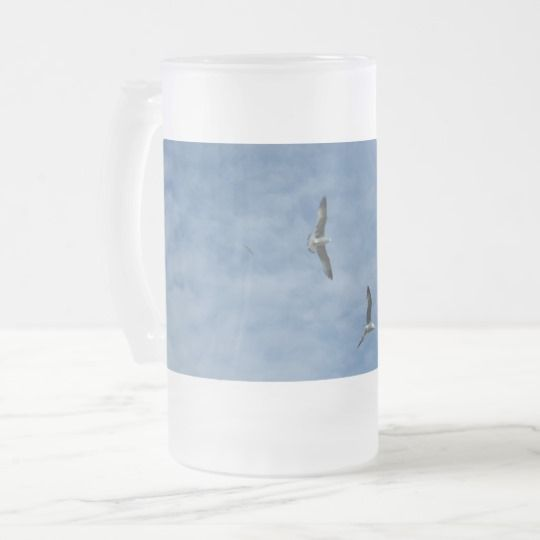 #zazzle #Flying #Seagulls #Frosted #16 oz #Frosted #Glass #Mug #office #home #travel #gift #giftidea