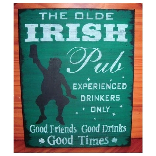 Irish Man Cave Signs : Irish pub sign the olde st patrick s day