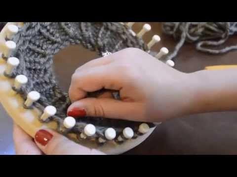 Loom Knitting Diamond Lace Stitch, K 1 - YouTube