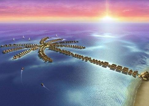 """Die 392 Wasservillen der """"Golden Palm Tree Sea Villas"""" an der Sepang Gold Coast, Westküste Malaysia. Ein luxuriöses Erlebnis für nur 120 Euro pro Nacht (£97.36)"""