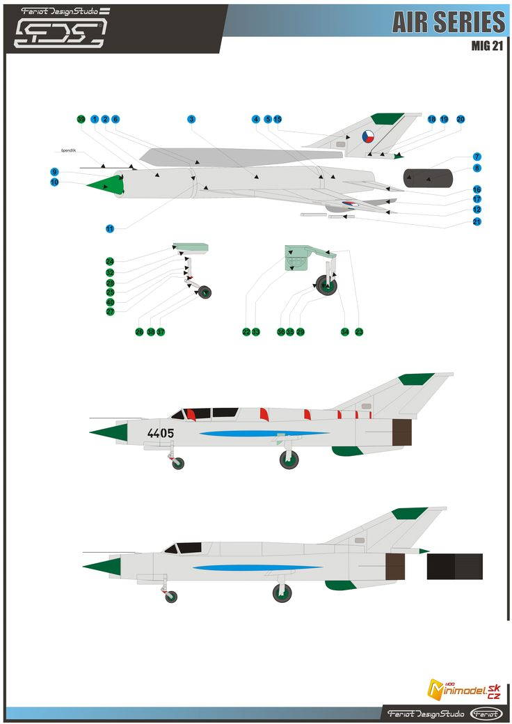 assembly instructions Mig 21