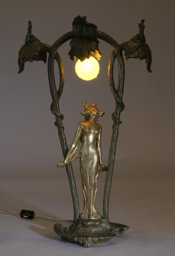Share Tweet Pin Mail French Art Nouveau Lady Lamp signed Flaiuaud was last modified: July 30th, 2013 by admin