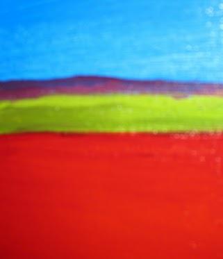 "Red-Blue Horizon - detail, 5"" center"
