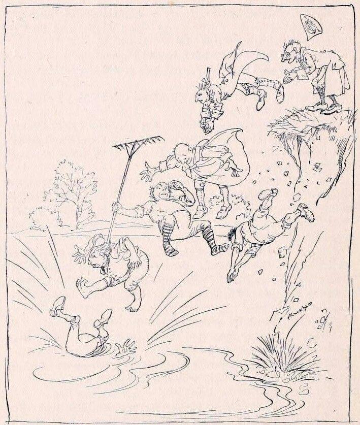 """Артур Рэкхем (Arthur Rackham).  """"Hansel & Grethel and other tales"""" by Brothers Grimm."""