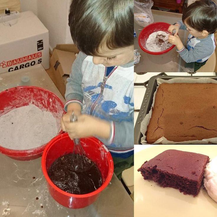 Oggi ho mangiato la prima torta preparata da Leonardo  #leonardo #cuoco