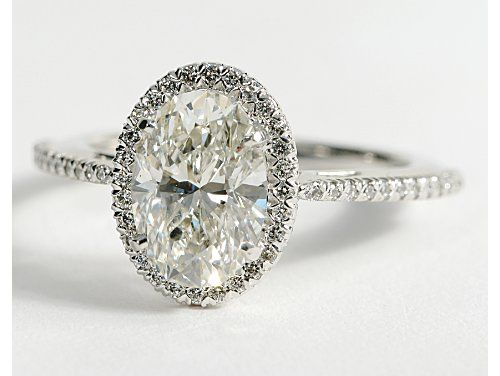 THIS IS MY ALL TIME FAVORITE! Oval Heiress Halo Diamond Engagement Ring in 14K White Gold | Blue Nile