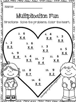 Printables Multiplication Free Worksheets 1000 ideas about free multiplication worksheets on pinterest worksheet enjoy this adorable freebie tpt math