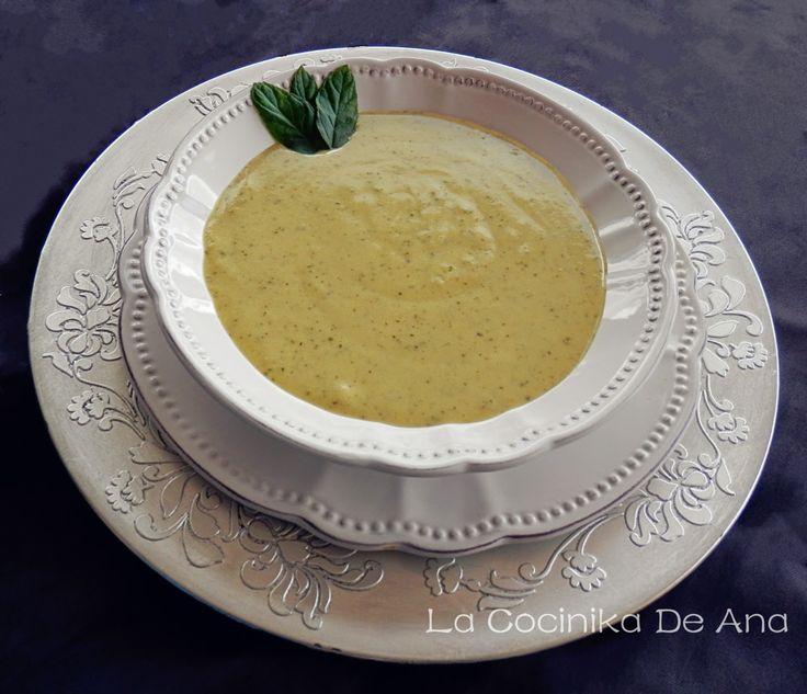 La Cocinika De Ana: PLATOS BAJOS EN CALORIAS Vichyssoise de calabacín