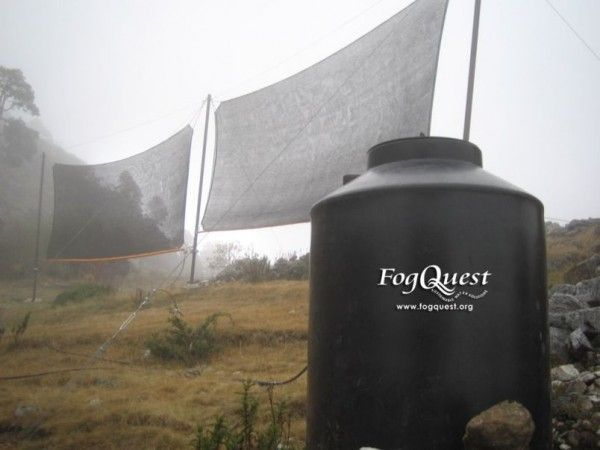 FogQuest, a Canadian non-profit, uses modern fog collectors to bring drinking water and water for irrigation and reforestation to rural communities in developing countries around the world.
