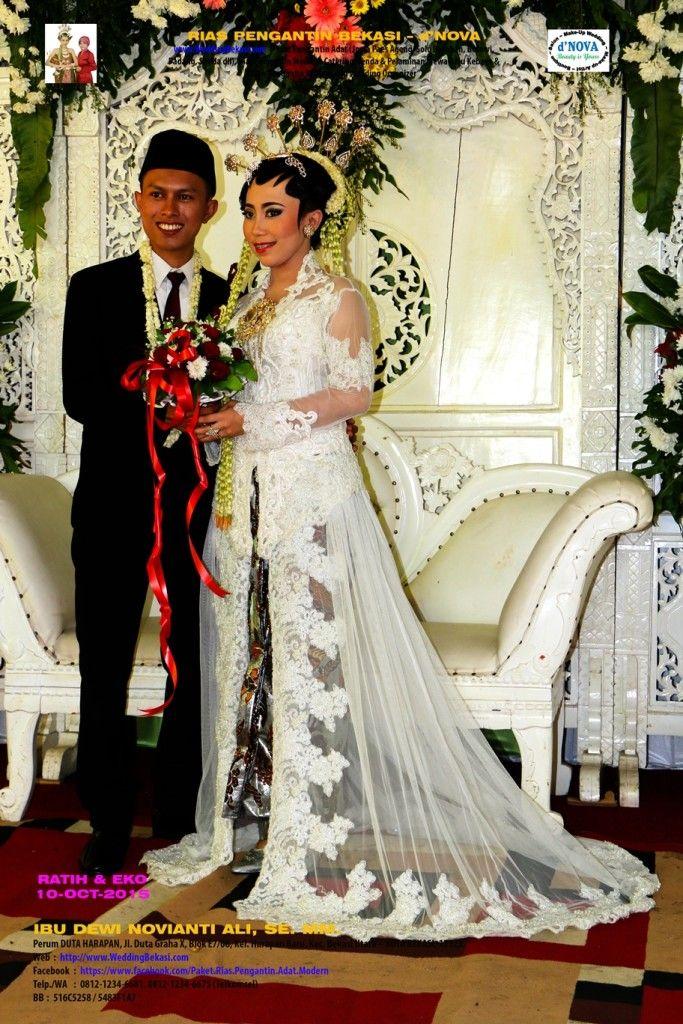 04. Rias Pengantin Bekasi - d'Nova -Pengantin Solo Putri - Ratih Eko - Pose Pengantin Kebaya Putih #01