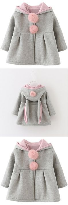Kids Baby Girls Coat Winter Warm Hoodie Jacket Outerwear
