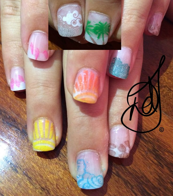Nail Art Ideas For Beach Vacation: 1000+ Ideas About Beach Vacation Nails On Pinterest
