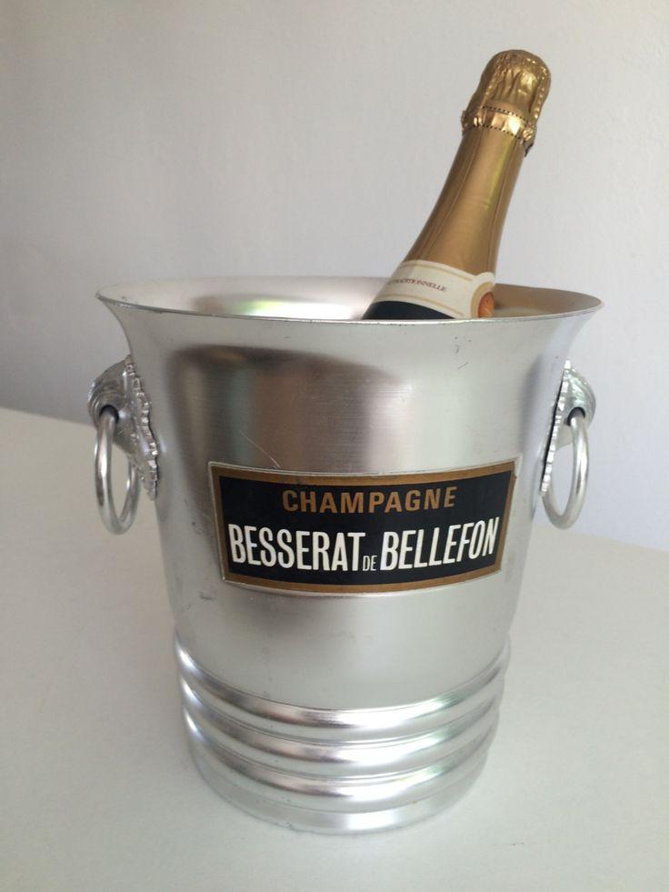 FRENCH vintage CHAMPAGNE ice bucket RARE: Besserat de Bellefon Noble Domain de la boutique FELIXSOFRENCH sur Etsy