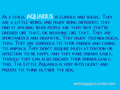 Aquarius Child - Emily and Nick are Aqurius' like their Daddy and this is so true of both of them!