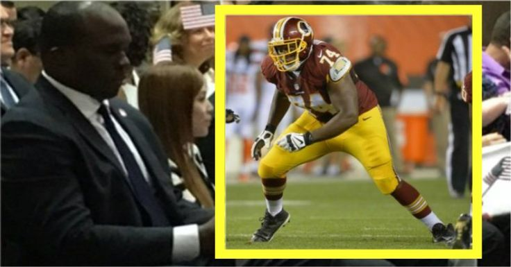 As NFL Players Sit, One Stands For Worthy Reason & Clutches Tiny Object