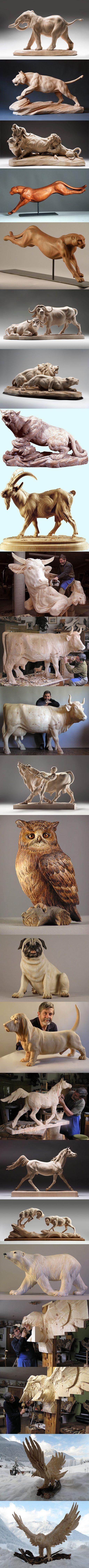 Amazing Wooden Sculptures by Italian Artist Giuseppe Rumerio