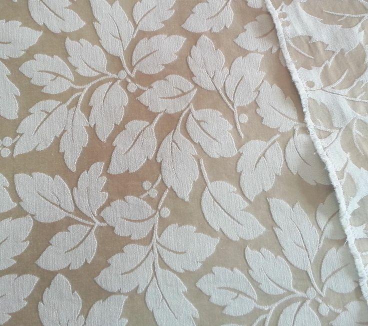 Brocade Fabric 2.8 yds Golden Leaf Pattern Damask Print Upholstery Decorator #Unknown