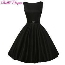 Belle Poque Vrouwen Zomer Stijl Geïnspireerd Vintage Kleding Retro 50 s Grote Swing Audrey Hepburn Stip Plus Size Vrouw jurken(China (Mainland))