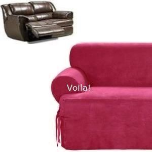Modern Sectional Sofas Reclining T Cushion SOFA Slipcover Burgundy Suede Sure Fit Couch Cover