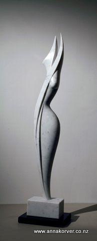 Marble figure 1 - Carrara marble - Anna Korver