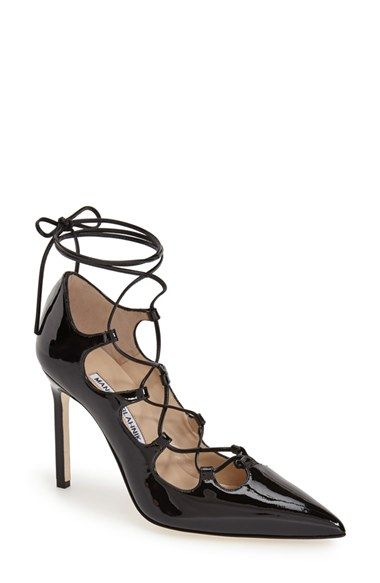 Manolo Blahnik Rogussta Lace Up Pointy Toe Pump | Nordstrom Half Yearly Sale | Storybook Apothecary