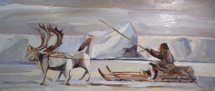 Nom de l'oeuvre : Grand Nord #tableau #martamilossis