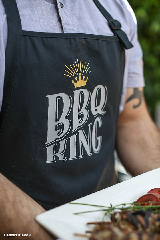 DIY Father's Day apron and dish cloths for the cook or BBQ King in your life. #contest