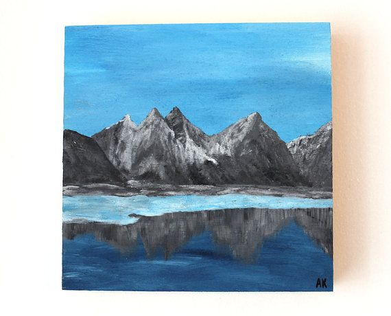 Beautiful Original Acrylic Landscape Painting - Artist Anaïs K.  Anaïs Art Shoppe www.AnaisArtShoppe.etsy.com