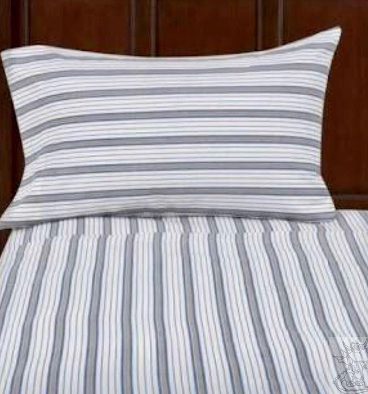 Queen Size Flat Sheet 200 Thread Ticking Stripe Mainstays Bedding New #mainstays #Contemporary
