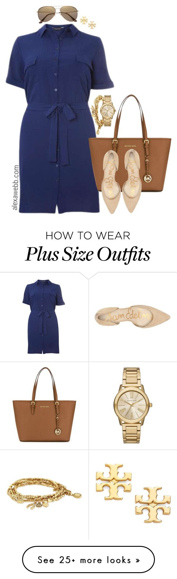 """Plus Size Summer Work Wear - Alexawebb.com"" by alexawebb on Polyvore featuring Dorothy Perkins, MICHAEL Michael Kors, Sam Edelman, H&M, BCBGeneration, Michael Kors, Tory Burch, outfit, plussize and plussizefashion"