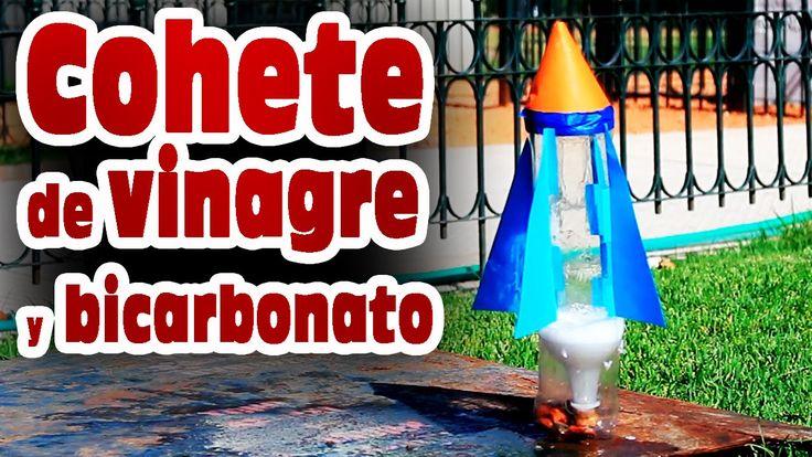 Cohete casero de vinagre y bicarbonato de sodio │ Experimento Fácil - YouTube