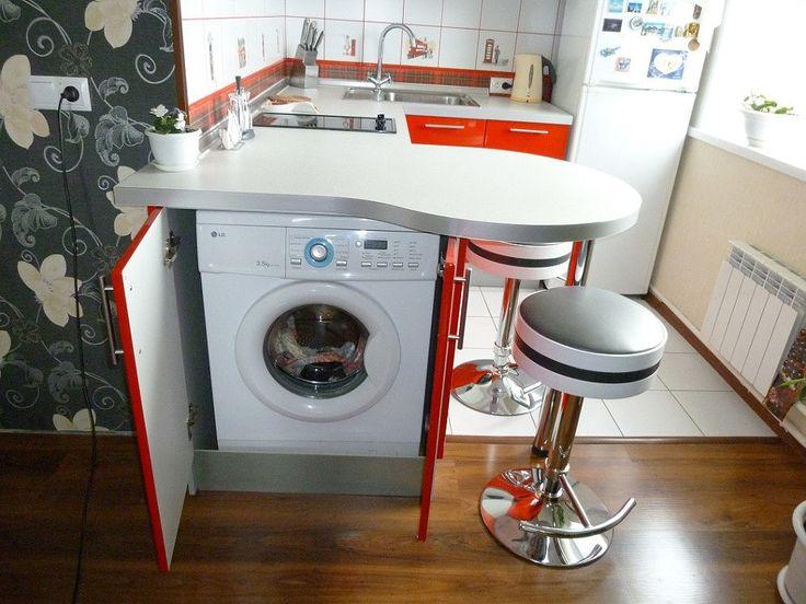 Как оцените такое решение для кухни в однушке-студии?