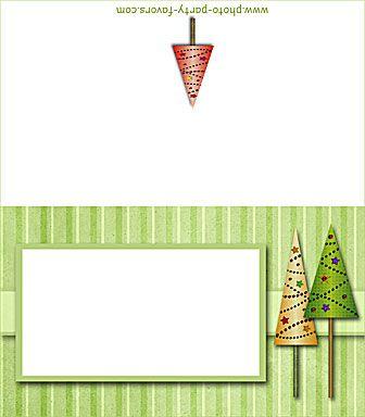 Free Printable Christmas Trees Place Card Christmas