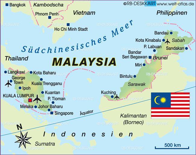 malaysia karte im Malaysia Reiseführer http://www.abenteurer.net/3825-malaysia-reisefuehrer/