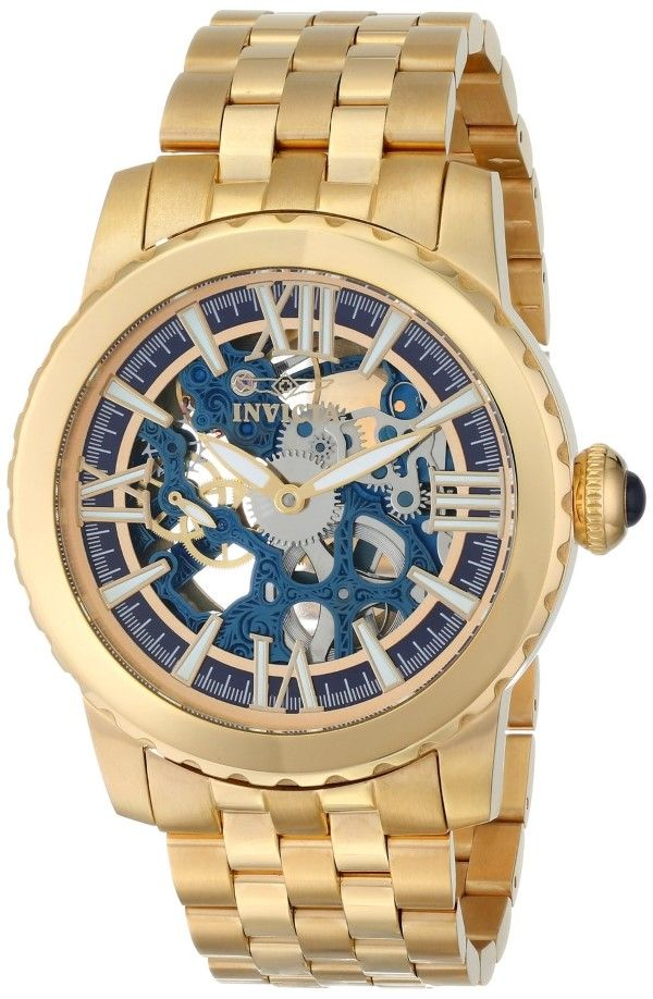 Gold watches Invicta Men's 14551 Specialty Analog Display Chinese Automatic Gold Watch