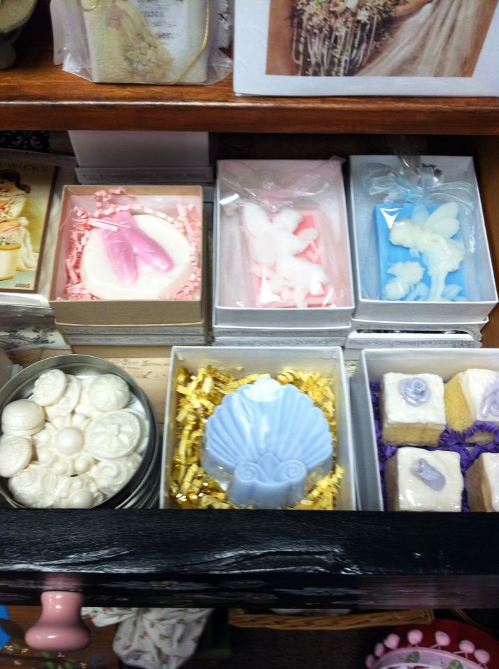 Beautiful handmade decorative soaps sold at Rosi's Cottage Treasures.