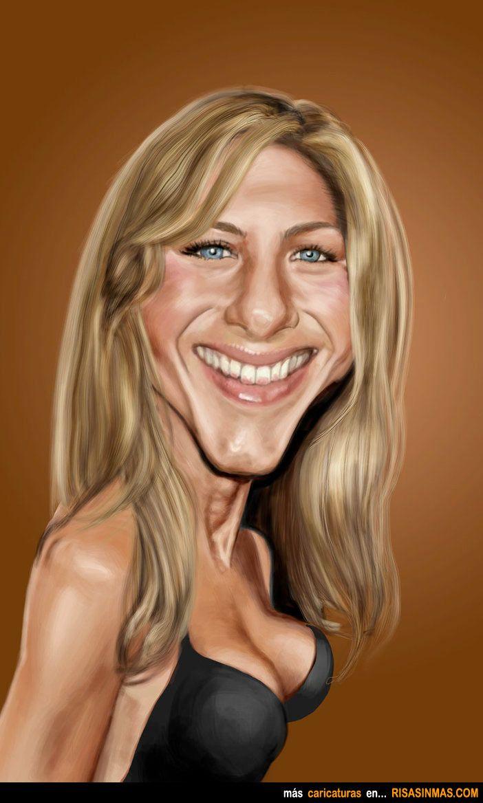 Caricatura de Jennifer Aniston.  ~ Ʀεƥɪииεð вƴ╭•⊰✿ © Ʀσxʌиʌ Ƭʌиʌ ✿⊱•╮