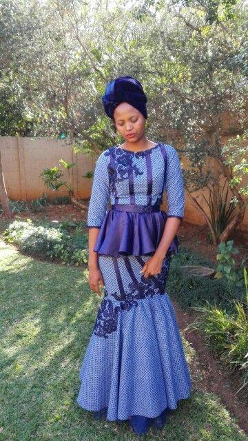 Fabrics usesd: seshweshwe (three cats), lace, embossed satin, velvet and tulle